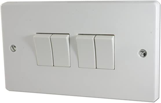 Crabtree 4174 4 Gang 2 Way Plate Switch 1 Pole 10A