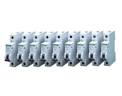 Crabtree Loadstar Type B & C Single Pole 10kA Miniature Circuit Breakers - MCB
