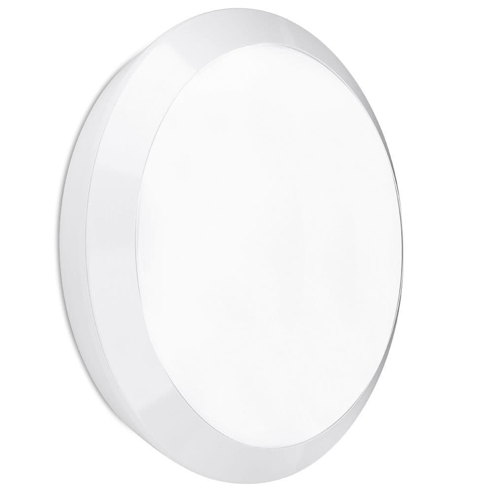 Enlite EN-BH15W/40MS 180-240V 15W IP66 LED Round Ceiling Light White 4000K & MW Sensor