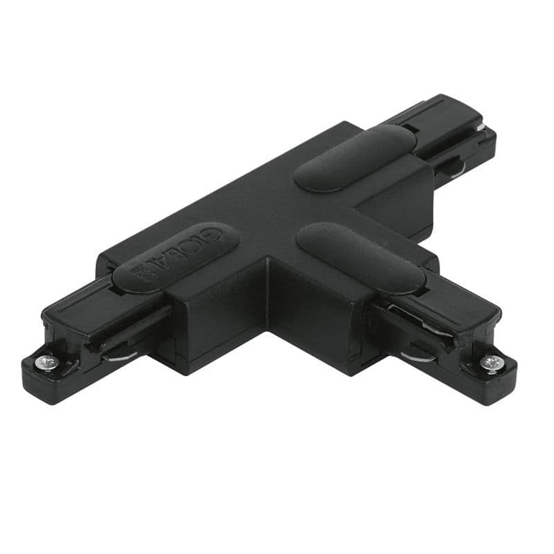 Enlite #GB36-2 250V Global T Connector Right Outside Polarity Single Circuit Track Black