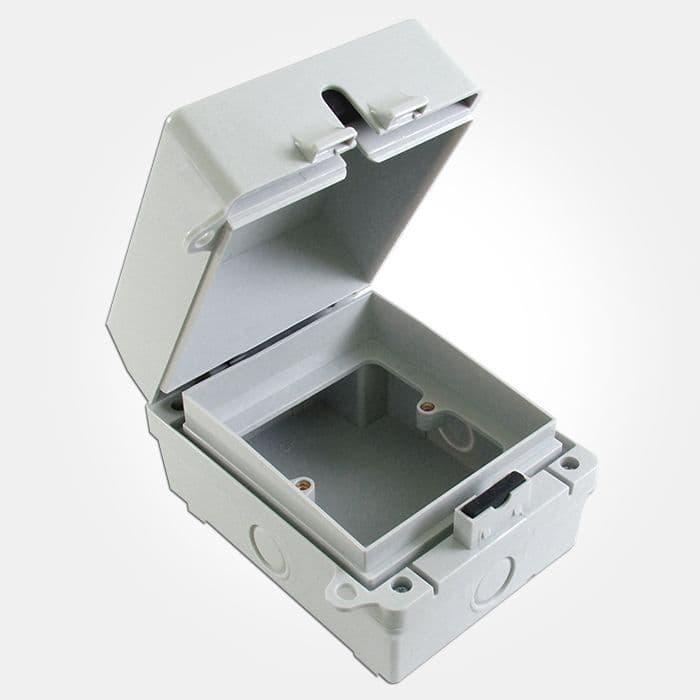 Eterna SSBE 1 Gang IP65 Outdoor Empty Accessory Box