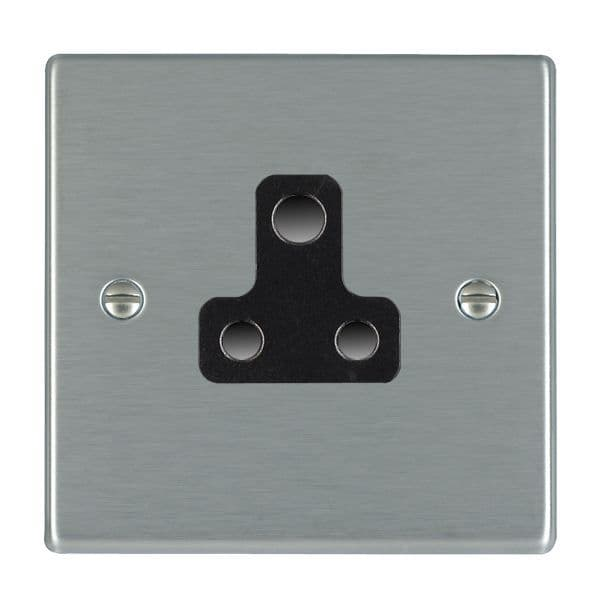 Hartland 74US5-B and 74US5-W Stainless Steel 5amp Socket