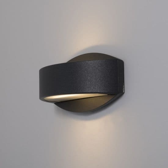 KSR Lighting KSR4126 Meridian 2.2 15w 4000K LED Wall Light Anthracite