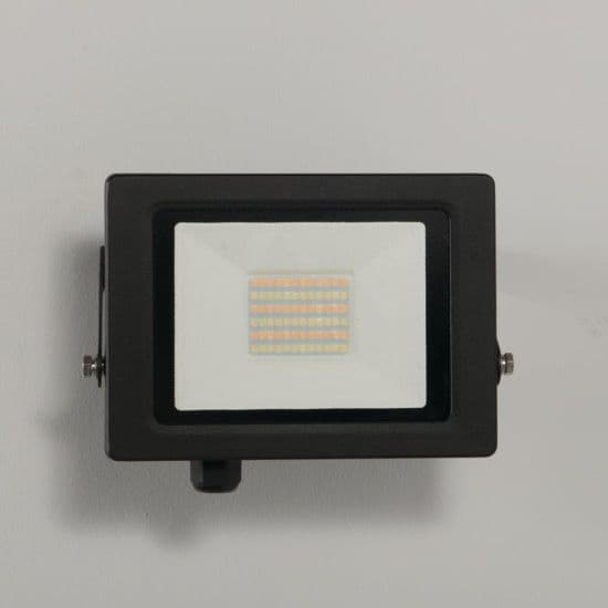 KSR Lighting KSR5284BLK Siena CCT 30w LED IP65 Floodlight Black