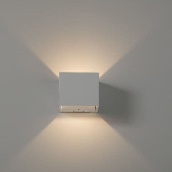 KSR Lighting KSR7237 Mini Kube 3.5w 3000K LED Wall Light White