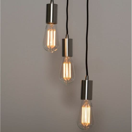 KSR Lighting KSR7298 Lucia 3xE27 Pendant Light Black