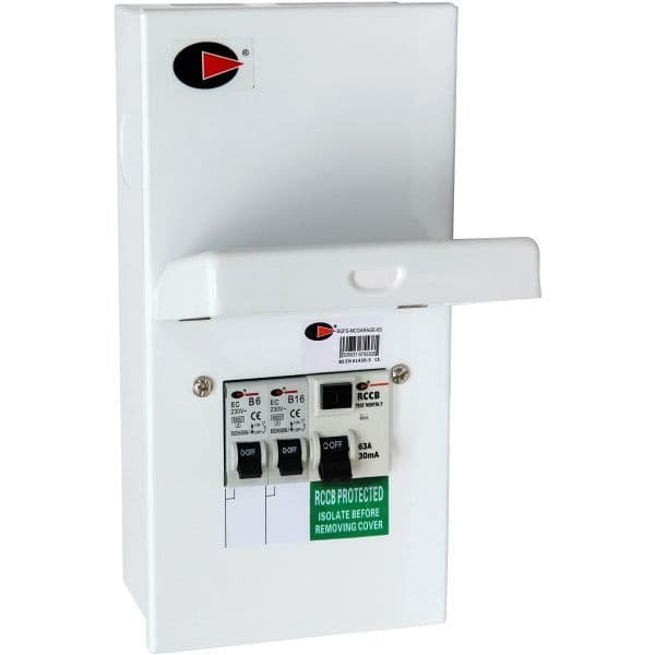 LEWDEN- QFS-MC GARAGE-63 2W 63A RCD METAL 6A+16A