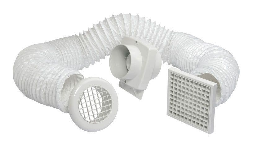 Manrose Primero FD100T In-Line Shower Extractor Fan Kit with Timer 100mm