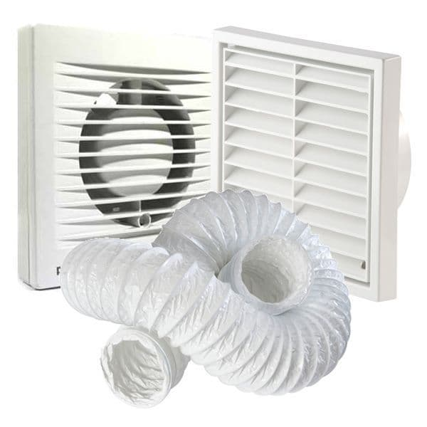 """Manrose Primero FF100S 4""""/100mm Extractor Fan (no Timer)"""