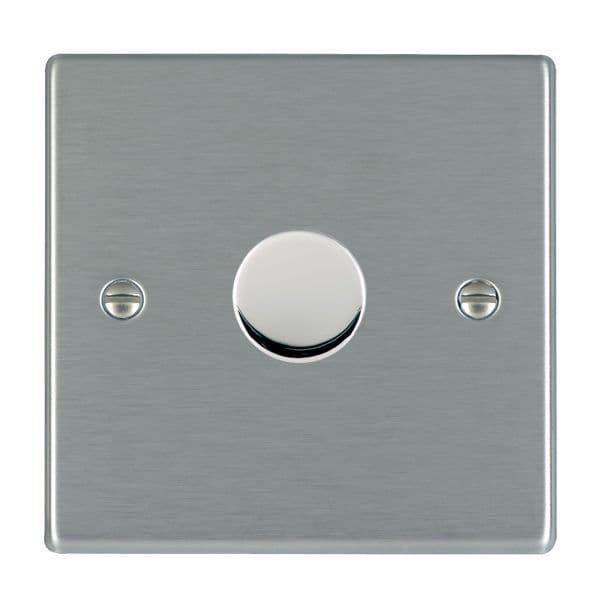 Hamilton 74 LEDITB100 LED Dimmer Switch 2 Way 100W Max 5W Min, Satin Steel,