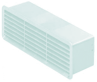 Supertube Rigid Duct Outlet Airbrick with Damper White