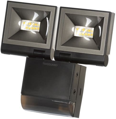Timeguard LED200PIRBE 2x 8W LED Energy Saver PIR Floodlight - Black