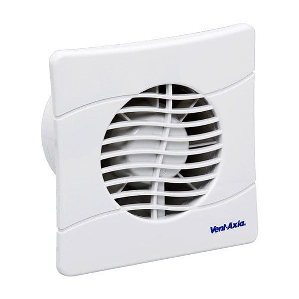Vent-Axia BAS100SLT Extractor Fan with Backdraught Shutters and Timer