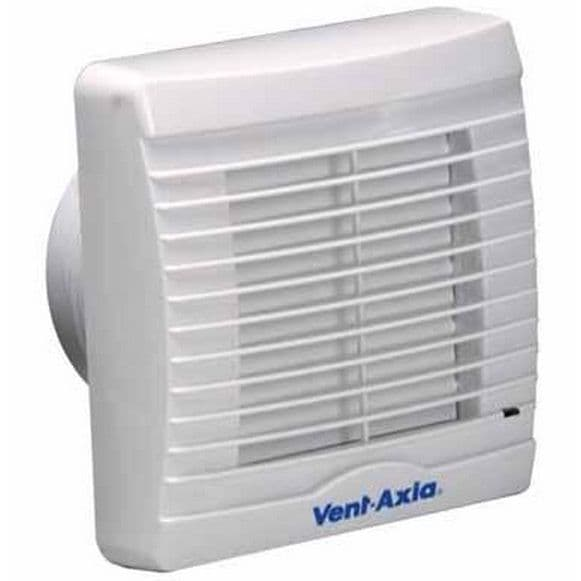 Vent Axia VA100XT Axial Bathroom/Toilet Extractor Fan with Timer Overrun Facility and Shutters