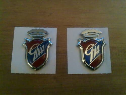 FORD MONDEO GENUINE FORD NEW OLD STOCK GHIA WING BADGES X 2 (FREE UK POST)
