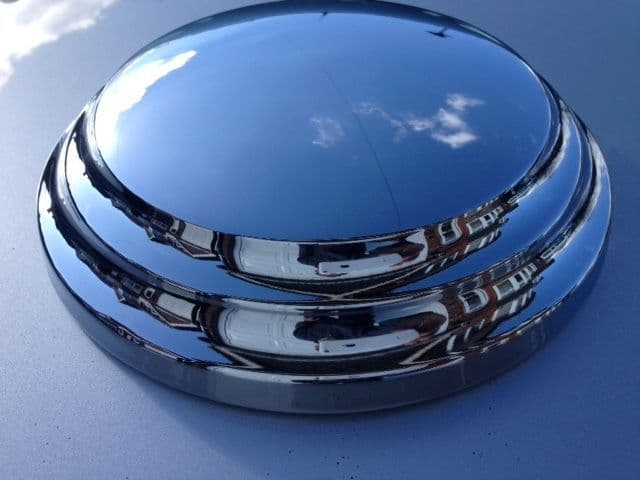 MORGAN 4-4 OR  4/4  BRAND NEW CHROME HUB CAPS X 4 MADE IN ENGLAND (FREE UK POST)