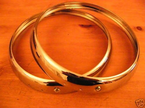 SEBRING NEW CHROME HEADLAMP RIMS TRIPLE PLATED X 2 (FREE UK POST)