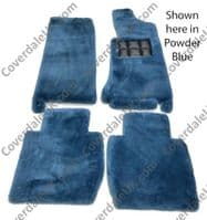 Set of 4 Sheepskin Over Rugs - Jaguar XJ Series (X308) LWB From 1997 To 2003