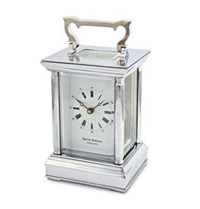 David Peterson Anglais 8 day Mechanical Carriage Clock. Y/DP/AG/S