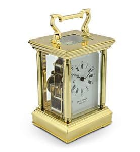 David Peterson Anglais 8 day Mechanical Carriage Clock. Y/DP/AG/SK with Strike Movement