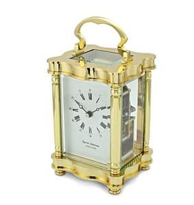 David Peterson Doucine 8 day Mechanical Carriage Clock with Strike Movement. Y/DP/DC/SK