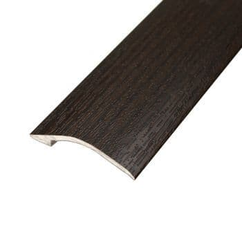 90cm  Teak Wire Brushed Stained AD5  Ramp Bar 37mm Self Adhesive 90cm