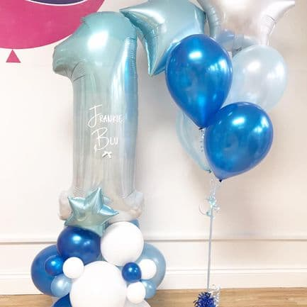 Bespoke 1st Birthday Blue Ombre Package