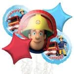 Fireman Sam  Helium Balloon Bouquet