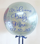 Personalised Baby Blue Helium Orbz Balloon