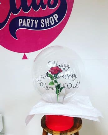 Personalised  Flower Filled Bubble Balloon