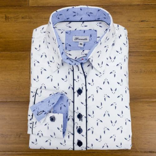 Grenouille Ladies Long Sleeve Bunny Rabbit Face Print Shirt