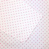 Grenouille Ladies Long Sleeve White with Pink Polka Dots Collared Tunic