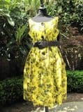 1950's Chartreuse green and black vintage sundress *SOLD*