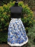 1950's Cotton pleated blue and white vintage skirt **SOLD**