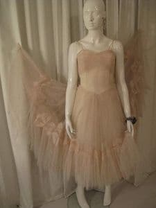 1950's Hint of pink ballerina style vintage dress. **SOLD**