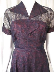 1950's Lace and taffetta vintage dress by RUXTON **SOLD**