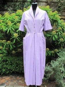 1950's Lavender cotton poplin vintage tailored dress **SOLD**