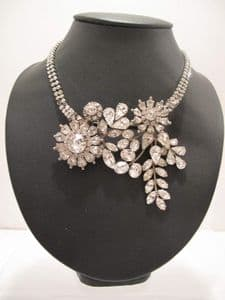 1950's Multi faceted crystal rhinestone vintage necklace/brooch **SOLD**
