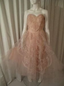 1950's Palest shell pink ballerina vintage ball gown **UK BUYERS ONLY *SOLD es