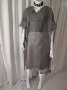 1950's Silk organza moss green vintage dress and coat ensemble 'By Justin' New Zealand **SOLD**