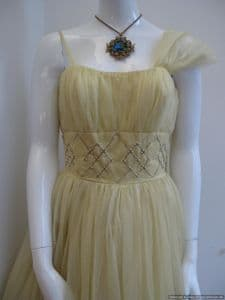 Early 1960's Primrose yellow vintage Prom dress  California **SOLD**
