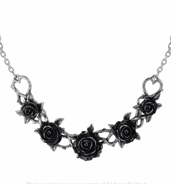 ALCHEMY GOTHIC  Black Rose Briar Necklace