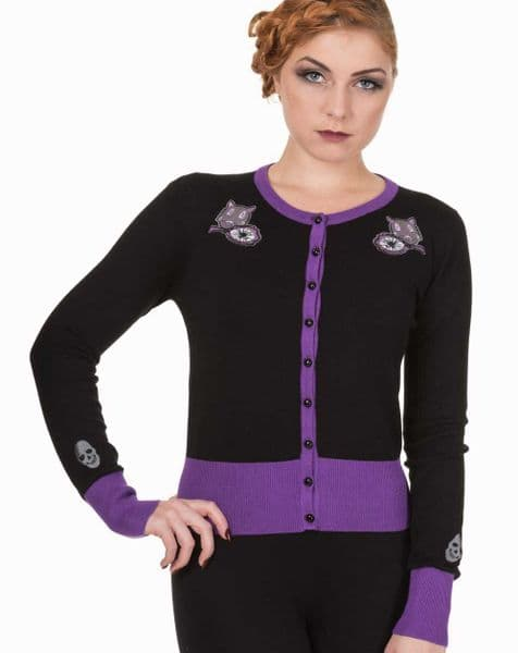 BANNED APPAREL Nine Lives Ladies Gothic Cardigan - Large