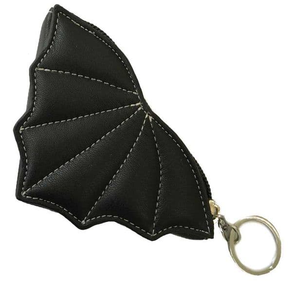BANNED Gothic Doom Shadow Bat Purse / Keyring