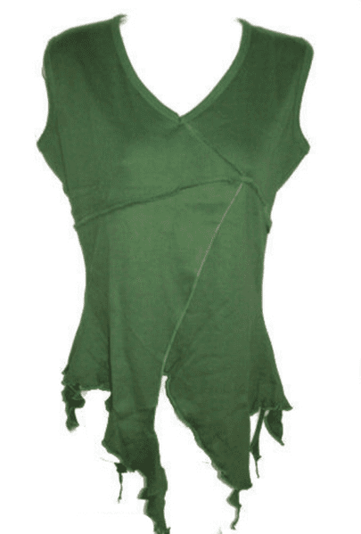 BARES Hippy Green Pixie Top