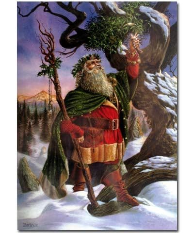 Gathering the Mistletoe Yule Greeting Card