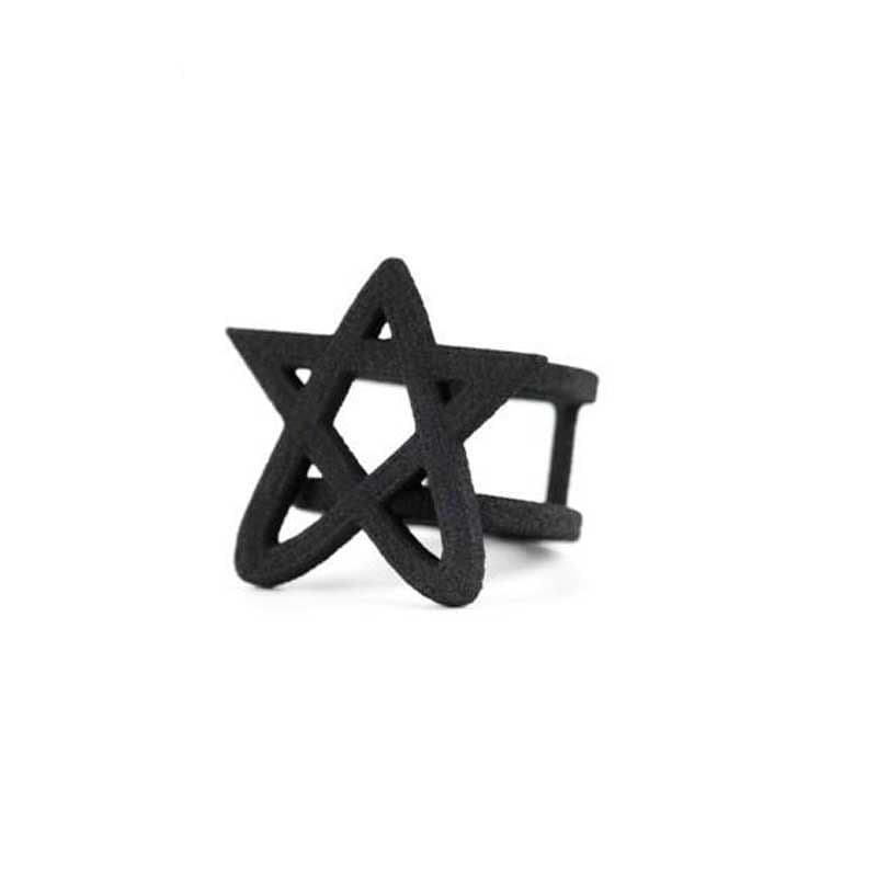 Gothic Black Ring of Lust by The Rogue + The Wolf   Gothic Jewellery