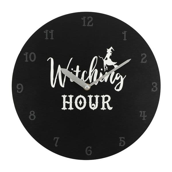 Gothic Black Witching Hour Wall Clock