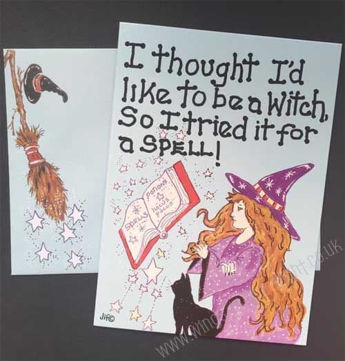 Humourous Witch Greeting Card