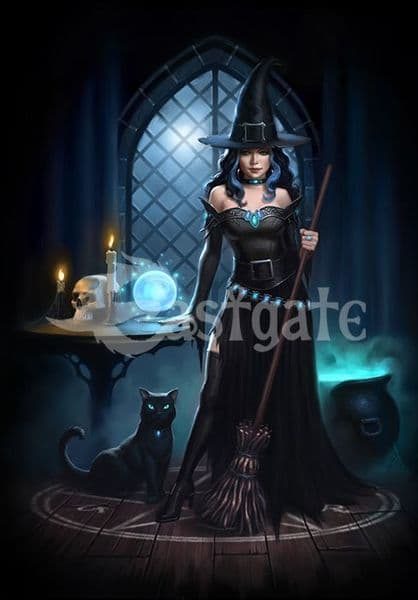 JAMES RYMAN Witches Lair Gothic Greeting Card